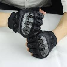 Army Half Finger Military Gloves 511 Police Glove With Spectra