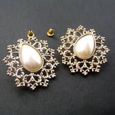 large stud earrings sale large snowflake fancy geometric pearl rhinestone stud