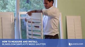 how to measure and install blinds com simplicity wood shutters