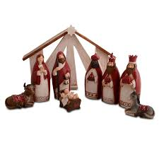 modern nativity set u2013 religious christmas decoration homesfeed