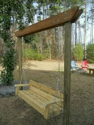 Swing Arbor Plans Easy Swinging Arbor With Swing U2014 With Only Two Posts To Set And