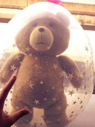 teddy bears inside balloons balloon with a ted soft inside unexpectedly deflated and the
