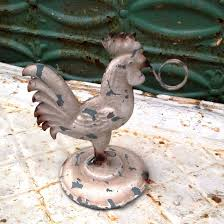 Rooster Decor For The Kitchen Shabby Chic Tin Rooster Recipe Holder Kitchen Decor