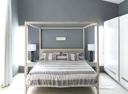 Bedroom Furniture Canopy Bed Modern Gray Bedroom Striped Bedding On Canopy Bed In Modern Home
