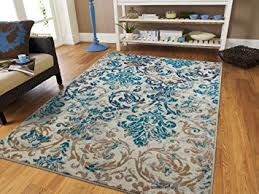 Area Rug Sets Modern Blue Gray Beige Transitional Area Rug 2 By 3