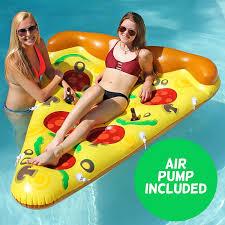 amazon pool floats amazon com luxury inflatable pizza pool float includes pump