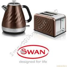 Kettle Toaster Sets Uk Luxury Copper Swan Set Kettle U0026 2 Slice Toaster 3 Canisters