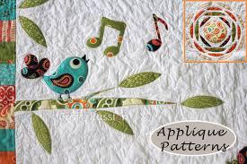 applique patterns songbird tree sun free applique pattern craft