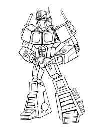 optimus prime coloring page free printable transformers coloring