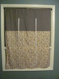 window treatments tie up curtain pattern two toned dark grey