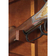 American Furniture Classics Gun Cabinet by Gun Collector Display Cabinet Wall Mount Rack Wood Case Rifle
