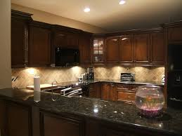 Backsplashes For Kitchens With Granite Countertops by Elegant Dark Kitchens Granite Countertop Glass Tile Backsplash