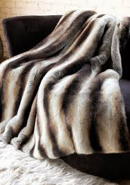 Restoration Hardware Throw Furniture Brown And Dark Brown Faux Fur Throws