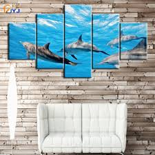 dolphin home decor jyj dolphin dancing spray painting wall art for living room home