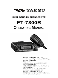 yaesu ft 7800r operation manual antenna radio coaxial cable