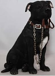 brown staffordshire bull terrier ornament walkies range of