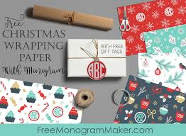 wrapping papers christmas wrapping paper with monogram