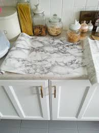 cheap kitchen countertops ideas diy cheap easy marble look counters done with contact paper