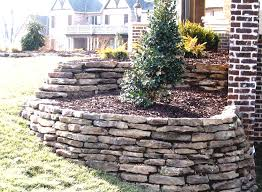 backyard with beautiful river natural rock landscaping ideas rocks