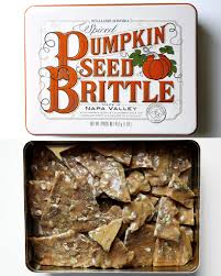 williams sonoma spiced pumpkin seed brittle pumpkin spice foods