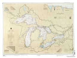 Map Of Michigan Lakes Avery Color Studios Inc Maps U0026 Chart