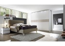 Schlafzimmer Hochglanz Beige Schlafzimmer Mit Bett Hellbraun 180 X 200 Weiss Matt Lackiert