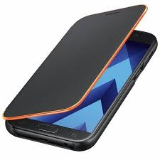 galaxy edge lighting neon flip cover with neon edge lighting for galaxy a5 2017