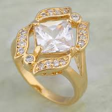 girls fashion rings images Elegant rings white cubic zirconia fashion jewelry gold rings for jpg