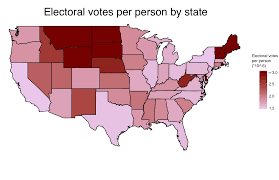 Create Electoral Map Electoral Votes Per Person By State Oc 1677 X 1084 Mapporn