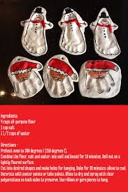 salt dough handprint footprint christmas ornaments made these