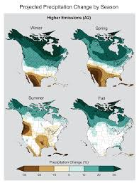 United States Climate Regions Map by Precipitation Change National Climate Assessment