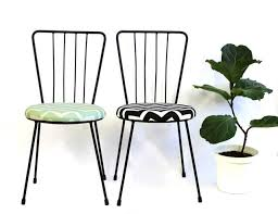 Wrought Iron Chairs For Sale Chair Revamp 2 U2013 Chevron Powder Coated Wrought Iron Chairs For