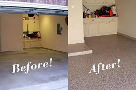 painted concrete floors before after wonderful painted concrete