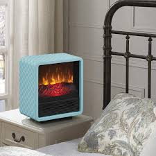 duraflame personal fire cube electric heater fireplace