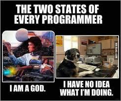 Programer Meme - the two states of every programmer 9gag