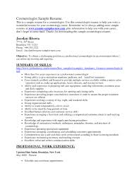 Manicurist Resume Sample Cosmetologist Resume Examples