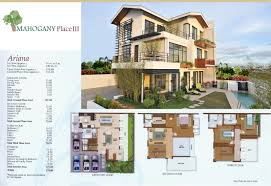 House With Floor Plan 004 Manila House For Sale Dmci Mahogany Place Iii Unit Feature