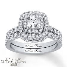 Jareds Wedding Rings by Kay Neil Lane Bridal Set 1 5 8 Ct Tw Diamonds 14k White Gold