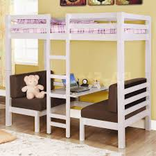 Wooden Bunk Beds With Desk Chicago Loft Beds Solid Wood Loft Bed - Girls bunk bed with desk