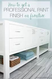 how to paint unfinished pine furniture how to get a smooth professional paint finish on furniture