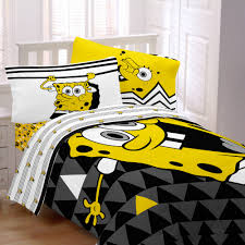 Spongebob Room Decor by Bedroom Kids Comforters With Brown Wooden Floor And Small Glass