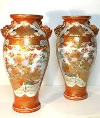 Japanese Kutani Vases Large Pair Japanese Kutani Porcelain Vases Meiji Ebay Japon