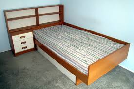 Bed With Headboard And Drawers Twin Platform Bed With Attached Headboard Side Table And Drawers