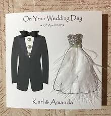 Wedding Day Cards From Groom To Bride Beautiful Handmade Wedding Day Card Men Women Bride U0026 Groom