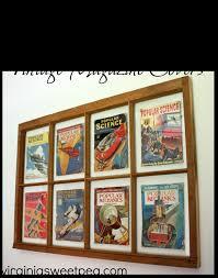 magazine wall decor window wall decor with vintage magazine covers