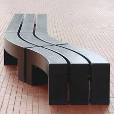 public bench contemporary concrete modular max bent velopa