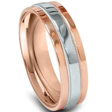 two tone mens wedding bands gold 950 platinum two tone mens wedding band comfort