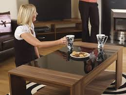 Black Gloss Side Table Walnut U0026 Black Gloss Coffee Table Hollywood Range By Furniture