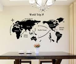 ebay wall stickers world map home office living room