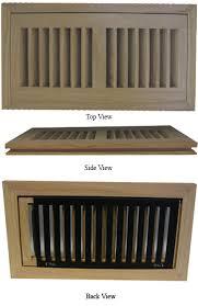 unfinished oak floor registers flush mount vent